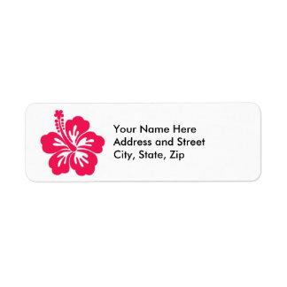 Hawaiin Hibiscus Return Address Label