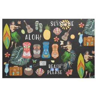 Hawaiin Tiki Fabric