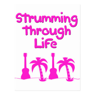 Hawaiin Ukulele tropical surf design Postcard