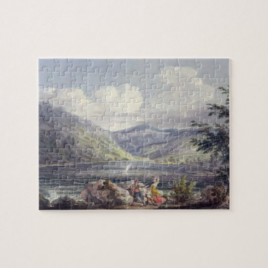 Haweswater, Westmoreland, c.1795 (w/c over graphit Jigsaw Puzzle