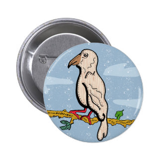 Hawfinch badge original illustration