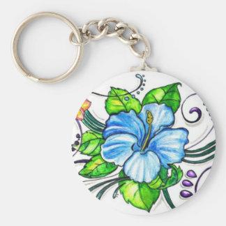 Hawiian Hibiscus Flowers Key Ring