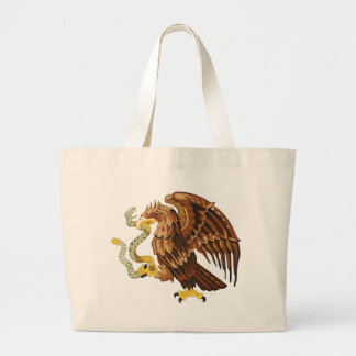 Hawk and snake large tote bag