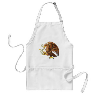 Hawk and snake standard apron