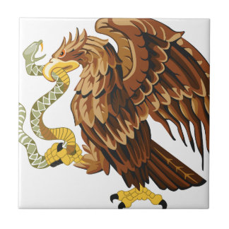 Hawk and snake tile