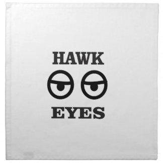 hawk eye fun napkin