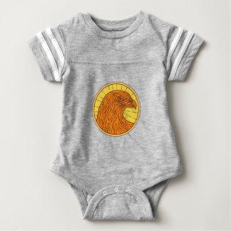 Hawk Eye Side Circle Mono Line Baby Bodysuit