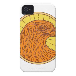 Hawk Eye Side Circle Mono Line Case-Mate iPhone 4 Cases