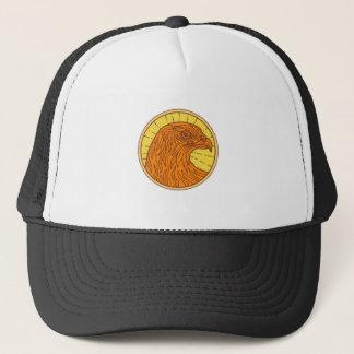 Hawk Eye Side Circle Mono Line Trucker Hat