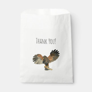 Hawk Flapping Wings Watercolor Painting Favour Bag