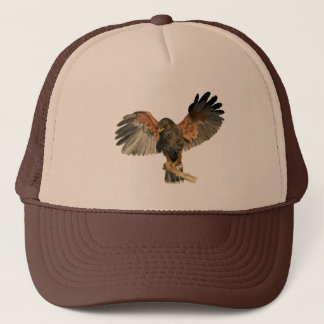 Hawk Flapping Wings Watercolor Painting Trucker Hat