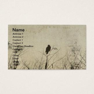 Hawk Love, Hawk in Tree Branches Digital Art Business Card
