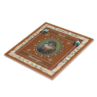 Hawk  -Messenger- Ceramic Tile