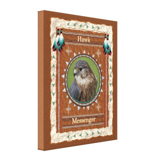 Hawk  -Messenger- Wrapped Canvas
