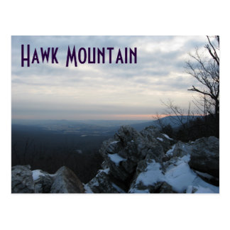 Hawk Mountain in Winter Postcard