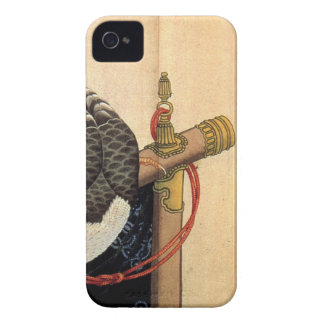 Hawk on a ceremonial stand by Katsushika Hokusai iPhone 4 Case-Mate Cases