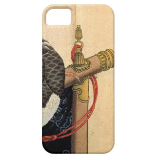 Hawk on a ceremonial stand by Katsushika Hokusai iPhone 5 Covers