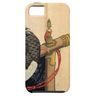 Hawk on a ceremonial stand by Katsushika Hokusai iPhone 5 Case