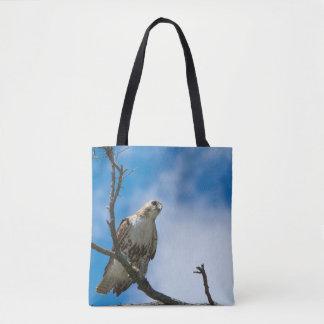 Hawk On The Hunt Custom All-Over-Print Tote Bag