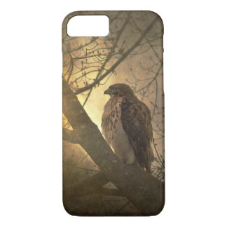 hawk on tree branch iPhone 8/7 case