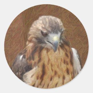 hawk pencil art sticker
