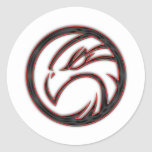 Hawk Round Sticker