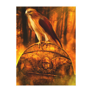 Hawk Spirit Wrapped Canvas Gallery Wrapped Canvas