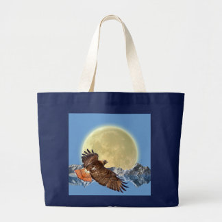 Hawk & Wild Moon Gift Designer Tote Bag