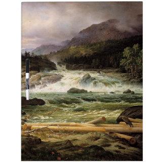 Hawk Wilderness Waterfall River Dry Erase Board