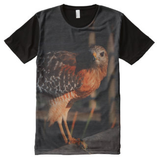 Hawk with prey All-Over print T-Shirt