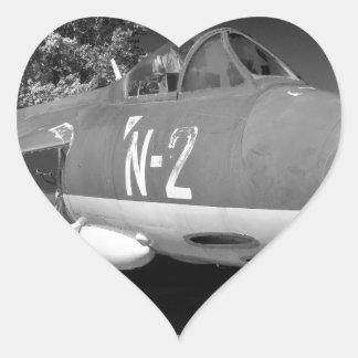Hawker Hunter FGA.78 aircraft. Heart Sticker