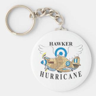 hawker hurricane basic round button key ring
