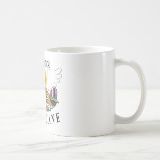 hawker hurricane caricature coffee mug