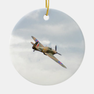 Hawker Hurricane In The Clouds Ceramic Ornament