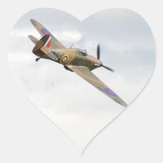 Hawker Hurricane In The Clouds Sticker