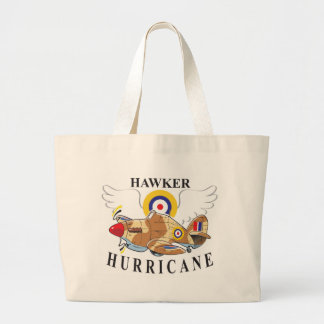 hawker hurricane tropical version large tote bag