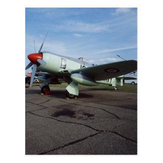 Hawker Sea Fury at CAF, Minnesota Wing, at the 2 Postcard