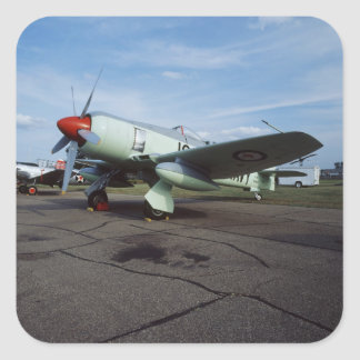 Hawker Sea Fury at CAF, Minnesota Wing, at the 2 Square Sticker