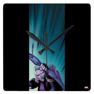 Hawkeye Firing Arrows Comic Panel Wallclock