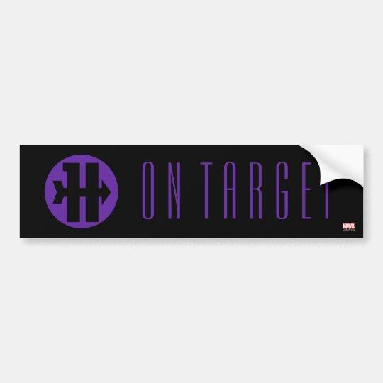 Hawkeye on target logo bumper sticker