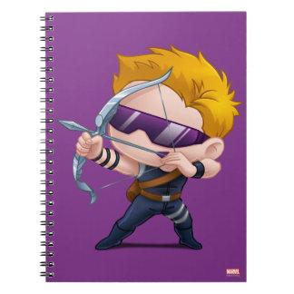 Hawkeye Stylized Art Spiral Notebook