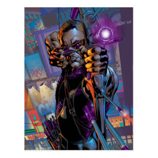Hawkeye Taking Aim Postcard