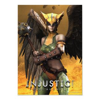 Hawkgirl 13 Cm X 18 Cm Invitation Card