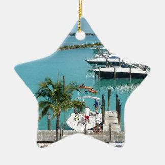 Hawk's Cay Marina Ceramic Ornament