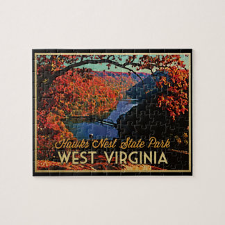 Hawks Nest SP West Virginia Jigsaw Puzzle