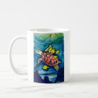 Hawksbill and tangs coffee mug