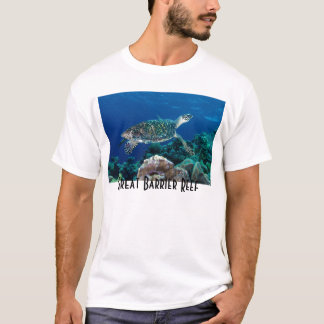 Hawksbill Sea Turtle Great Barrier Reef Coral Sea T-Shirt