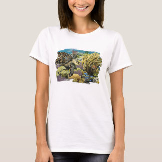 Hawksbill Sea Turtle Over a Patch Reef T-shirt