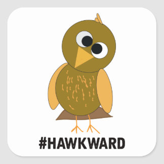hawkward square sticker