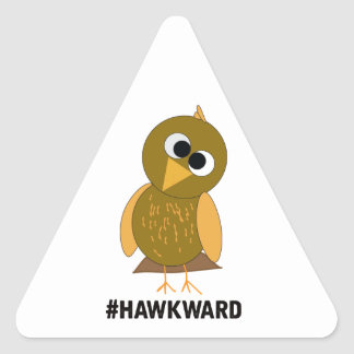 hawkward triangle sticker